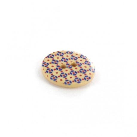 Bouton Polyester Mosaïc beige