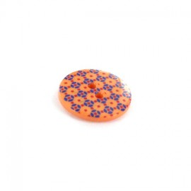 Bouton Polyester Mosaïc orange