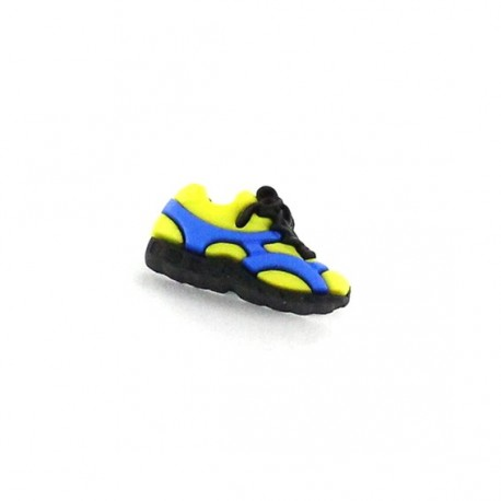 Polyester button, Sport shoes - yellow