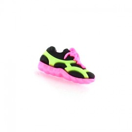 Polyester button, Sport shoes - pink