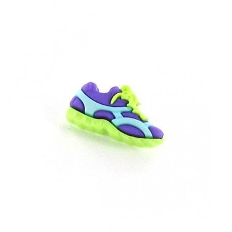 Polyester button, Sport shoes - green