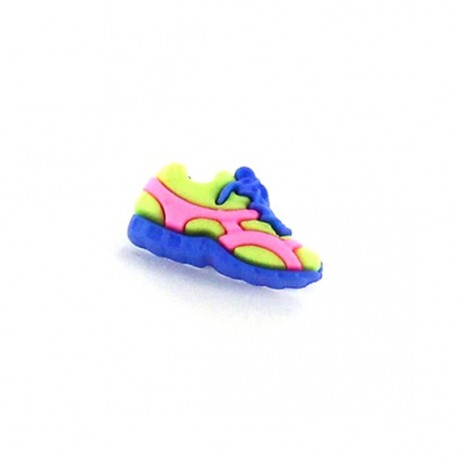 Polyester button, Sport shoes - blue