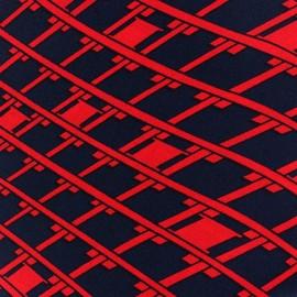 Graphique Losangia Crepe Fabric - Red x 10cm