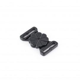Attache maillot de bain fleur noir