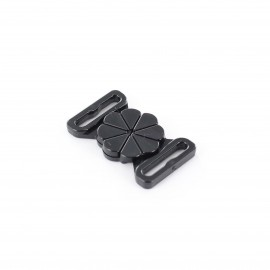 Detachable swim suit hooks (1 pair) - black flower