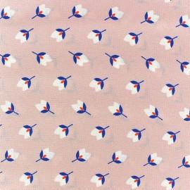 Fleurette crepe fabric - Pink x 10cm