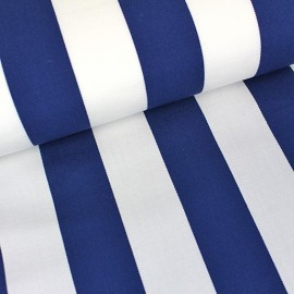 Deckchair Canvas Fabric - Playa stripes white/navy blue (43cm) x 10cm