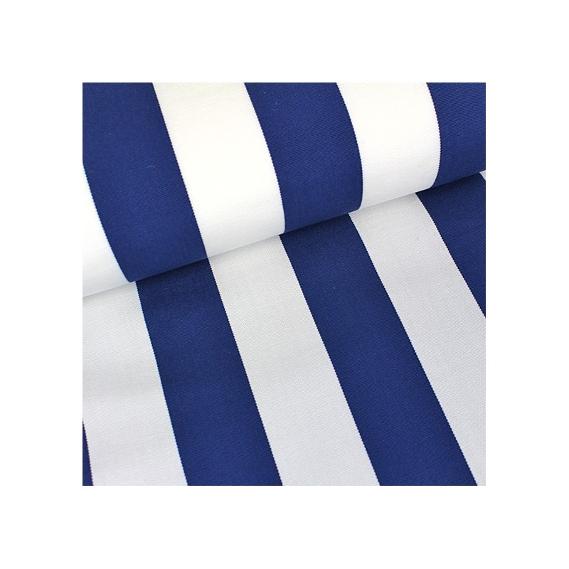 tissu toile transat playa rayures blanc bleu navy x 10cm. Black Bedroom Furniture Sets. Home Design Ideas