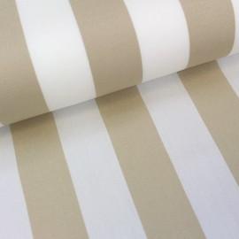 Tissu toile transat Playa rayures blanc/ficelle (43cm) x 10cm