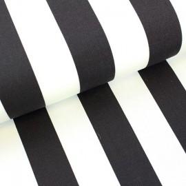 Deckchair Canvas Fabric - Playa stripes white/black (43cm) x 10cm
