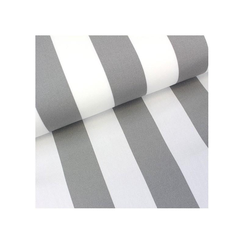 tissu toile transat playa rayures blanc gris 43cm x 10cm ma petite mercerie. Black Bedroom Furniture Sets. Home Design Ideas