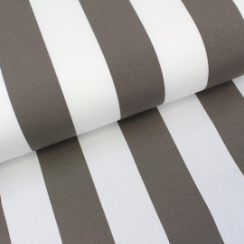 Deckchair Canvas Fabric - Playa stripes white/taupe (43cm) x 10cm