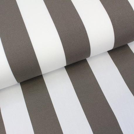 Deckchair Canvas Fabric - Playa stripes white/taupe (43cm) x 10cm