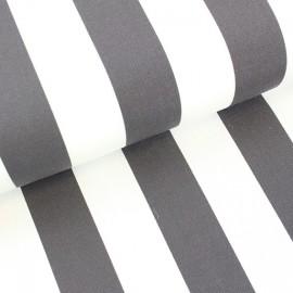 Tissu toile transat Playa rayures blanc/orage x 10cm