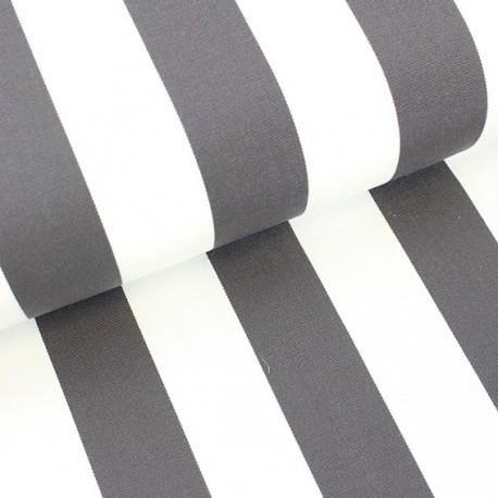 Tissu toile transat Playa rayures blanc/orage (43cm) x 10cm