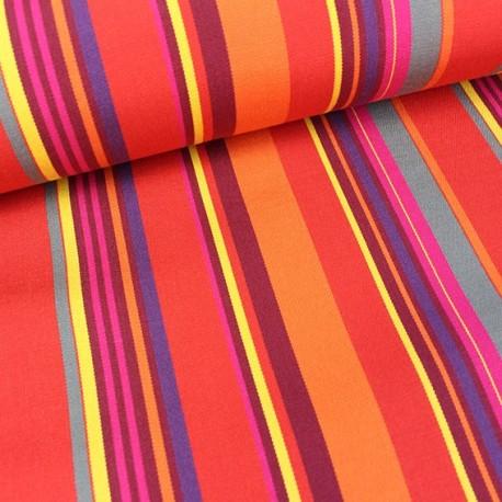 Deckchair Canvas Fabric - Playa Portofino red (43cm) x 10cm
