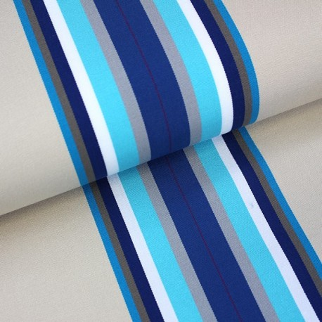 Deckchair Canvas Fabric - Playa Cap Ferret blue (43cm) x 10cm