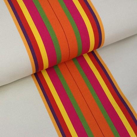 Deckchair Canvas Fabric - Playa Cap Ferret orange (43cm) x 10cm