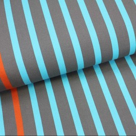 Tissu toile transat Playa Petit Bateau turquoise (43cm) x 10cm