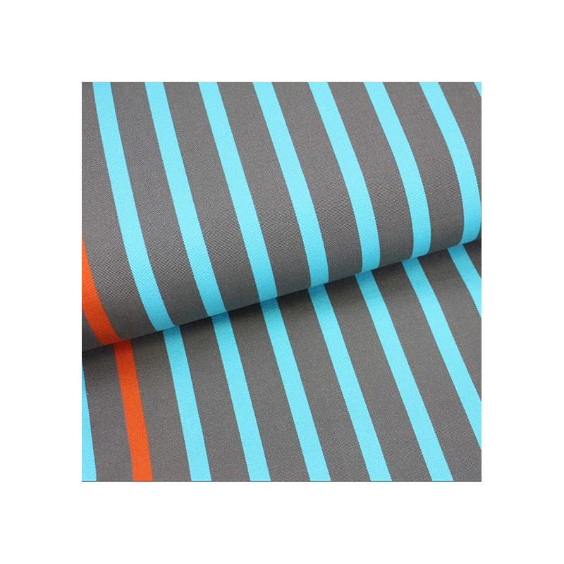 tissu toile transat playa petit bateau turquoise 43cm x 10cm ma petite mercerie. Black Bedroom Furniture Sets. Home Design Ideas