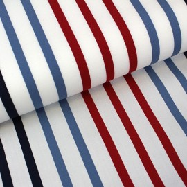 Tissu toile transat Playa Petit Bateau rouge x 10cm