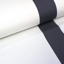 Tissu toile transat Playa Cannes écru/orage (43cm) x 10cm