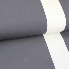 Tissu toile transat Playa Cannes orage/écru (43cm) x 10cm