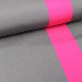 Tissu toile transat Playa Cannes orage/fuchsia (43cm) x 10cm