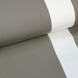 Deckchair Canvas Fabric - Playa Cannes taupe/ecru (43cm) x 10cm