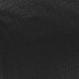 Tissu piqué de coton Perle noir x 10cm