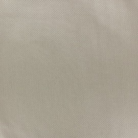 Tissu piqué de coton Perle taupe x 10cm