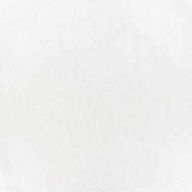Pearl stitched cotton fabric - white x 10cm