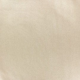 Pearl stitched cotton fabric - beige x 10cm