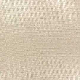 Tissu piqué de coton Perle beige x 10cm