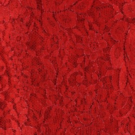 Lace of Calais® Fabric - Red x 10cm
