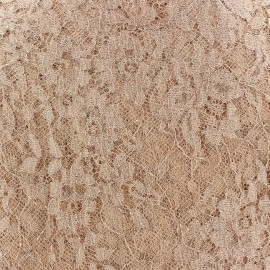 ♥ Only one piece 200 cm X 110 cm ♥ Lace of Calais® Fabric - Apricot