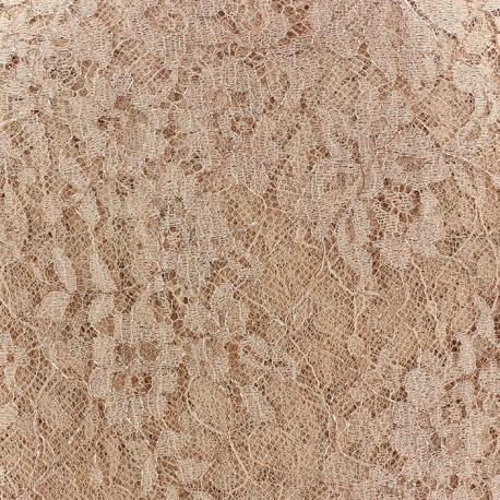 Tissu Dentelle de Calais® Abricot x 10cm
