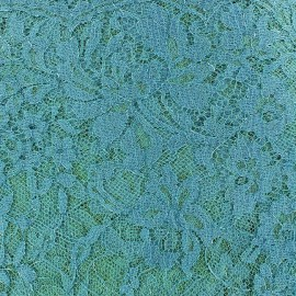 Lace of Calais® Fabric - Turquoise x 10cm