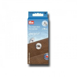 Prym 3 Deco Caps Base 16mm for Deco Caps (pack of 3) - silver