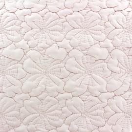 Tissu matelassé Fleurs brodées rose x 10cm