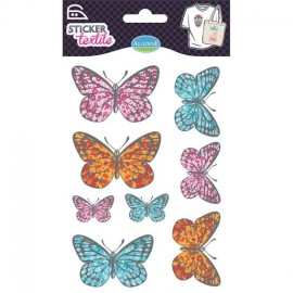 Sticker textile Papillon Liberty