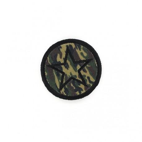 Thermocollant Camouflage Insigne Etoile Vert