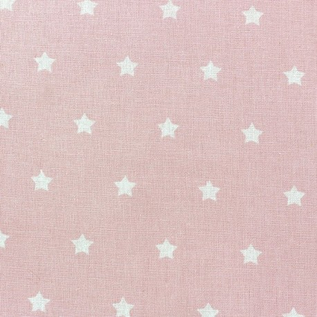 Cretonne Cotton Fabric - Stars pink x 10cm