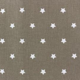 Tissu coton cretonne Stars fond taupe x 10cm
