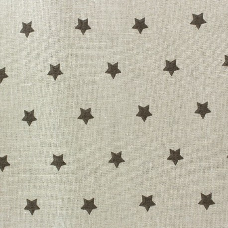 Fabric coton cretonne Stars taupe fond beige x 10cm
