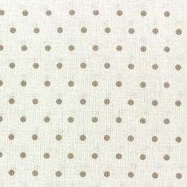 Cretonne Cotton Fabric - Drop beige/ivory x 10cm