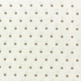 Tissu coton cretonne Drop beige fond ivoire x 10cm