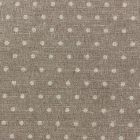 Cretonne Cotton Fabric - Drop beige/taupe x 10cm
