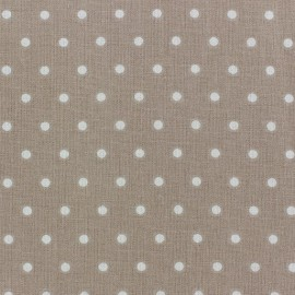 Tissu coton cretonne Drop ivoire fond beige x 10cm