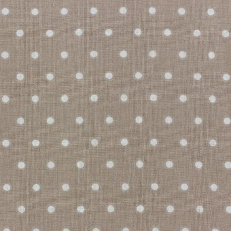 Cretonne Cotton Fabric - Drop ivory/beige x 10cm